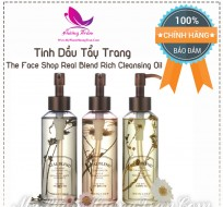Tinh Dầu Tẩy Trang The Face Shop Real Blend Rich Cleansing Oil