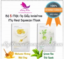 Bộ 5 Mặt Nạ Giấy Innisfree My Real Squeeze Mask